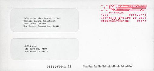 Yale Graphic Design MFA 2003