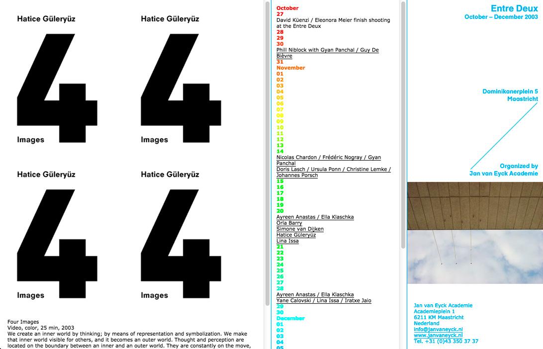 Entre Deux: Website