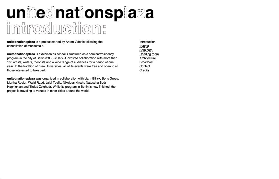 Unitednationsplaza: Website