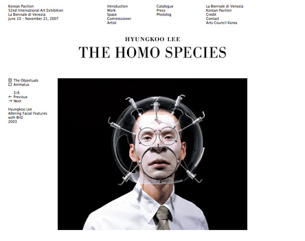 The Homo Species, website