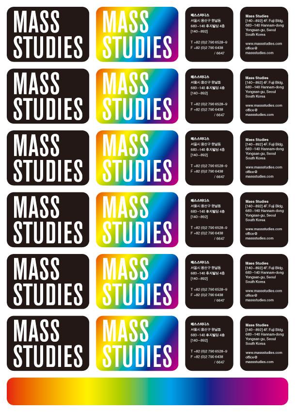 Mass Studies, stickers