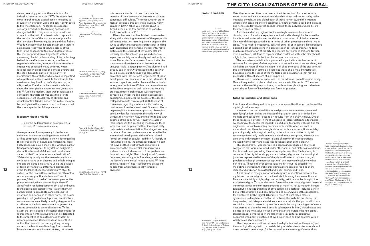 Perspecta 36: Juxtapositions