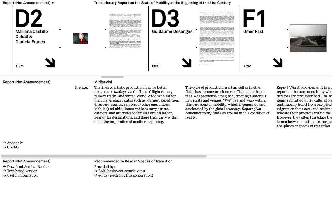 Report (Not Announcement): Website