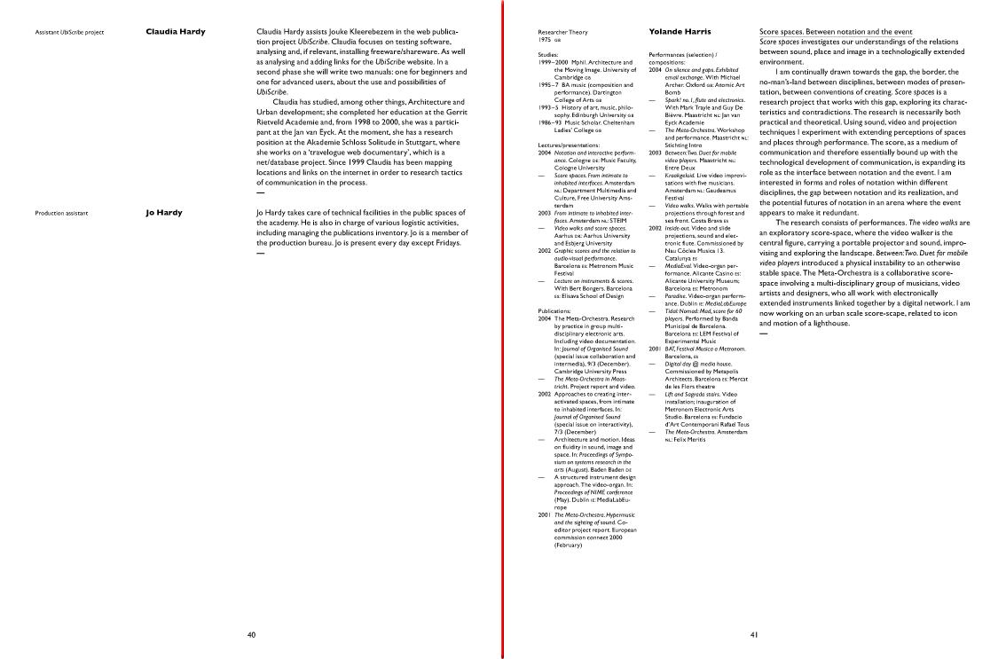 Jan van Eyck Academie Programme 2005