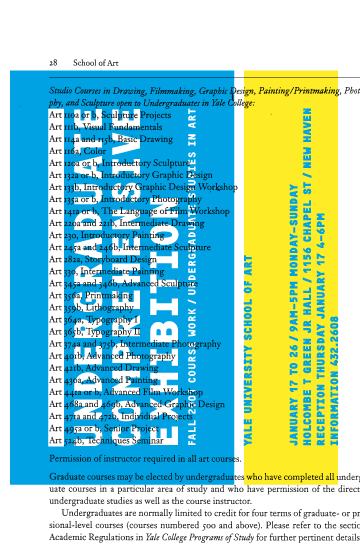 Yale Art Undergraduate Comprehensive Exhibition: Invitation