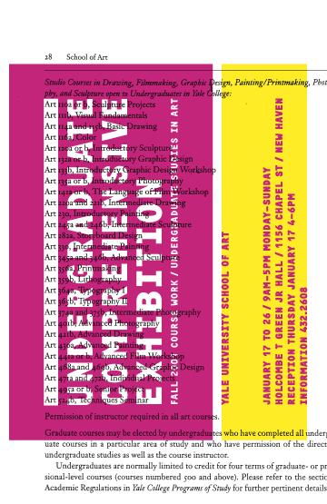 Yale Art Undergraduate Comprehensive Exhibition: Invitation