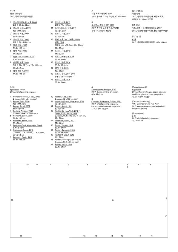 작품 목록—페리지, 2017